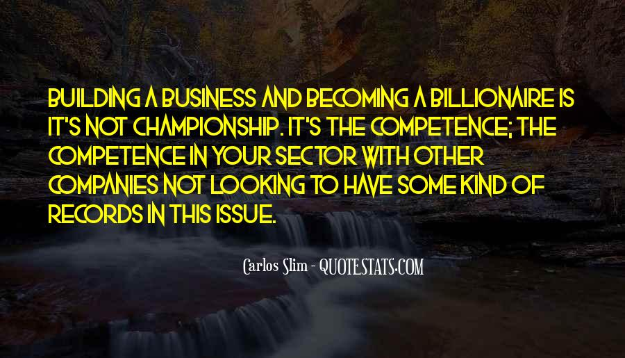 Business Competence Quotes #28641