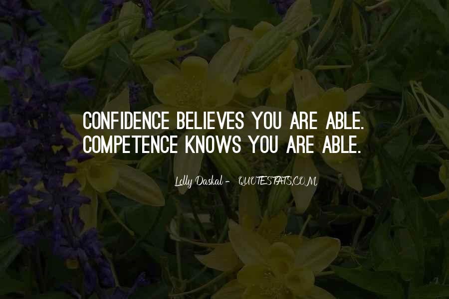 Business Competence Quotes #994062