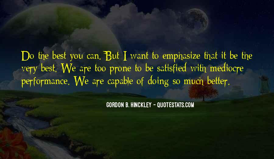 Can Do Better Quotes #14314