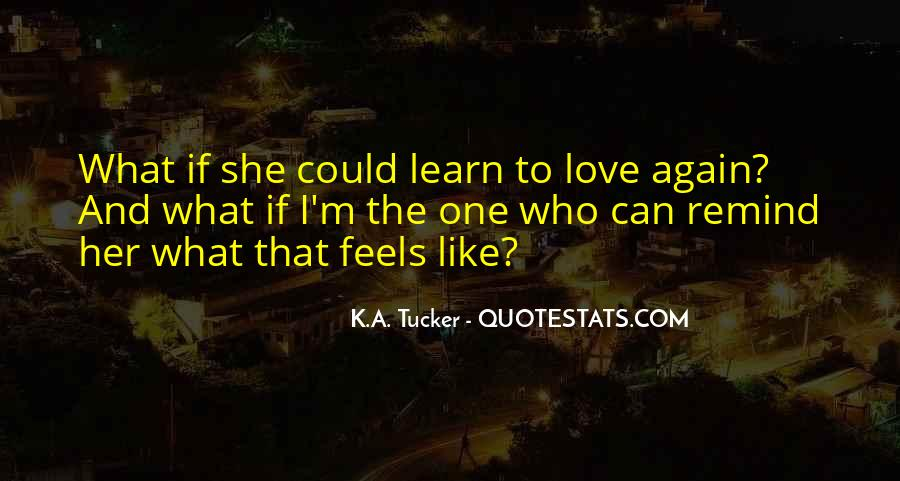 Can I Love Again Quotes #869571