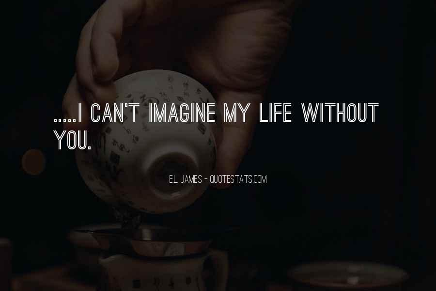 Can't Imagine Life Without You Quotes #1408544