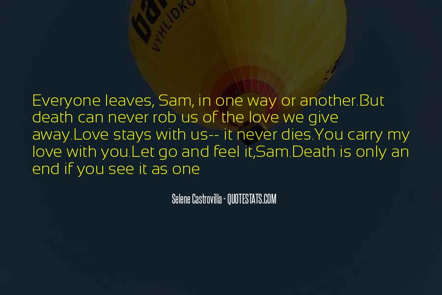 Can't Let You Go Love Quotes #1398995