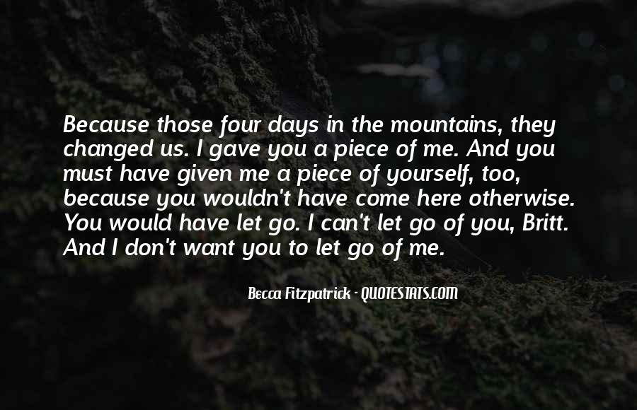 Can't Let You Go Love Quotes #4952