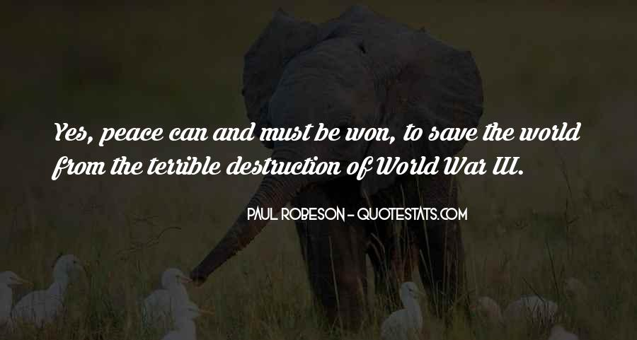 Can't Save The World Quotes #1050900