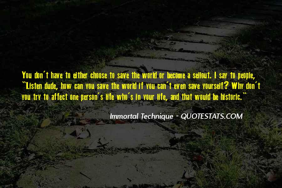 Can't Save The World Quotes #1185691