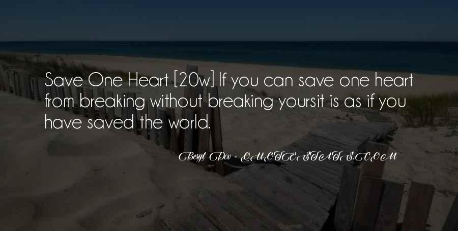 Can't Save The World Quotes #124652