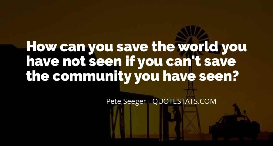 Can't Save The World Quotes #139082