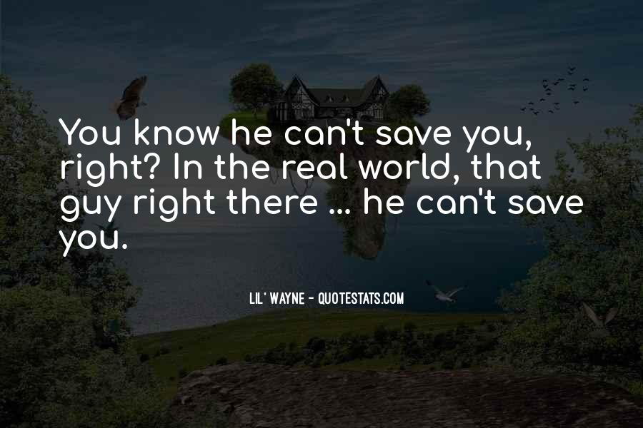 Can't Save The World Quotes #1555990