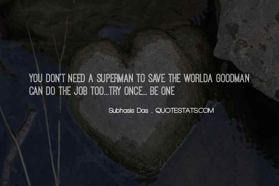 Can't Save The World Quotes #200726
