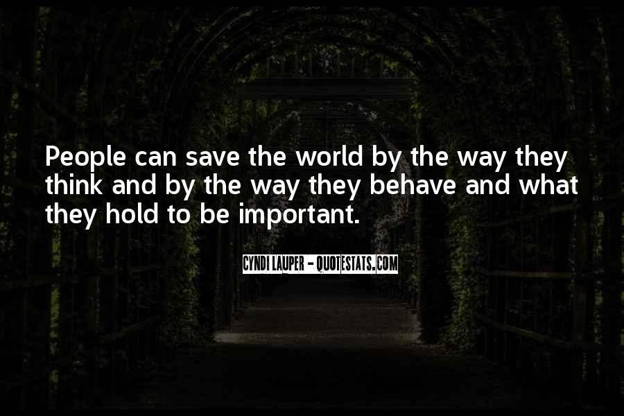 Can't Save The World Quotes #765896