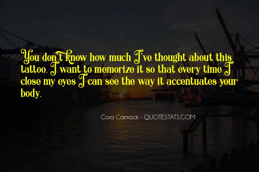 Can't See My Eyes Quotes #1479133