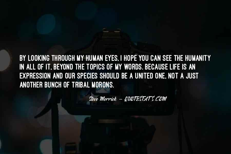 Can't See My Eyes Quotes #201562