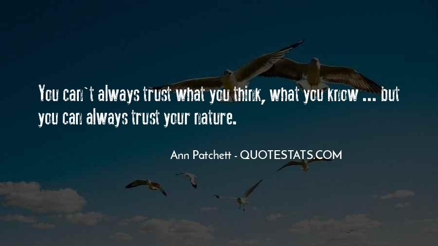 Can't Trust You Quotes #84288
