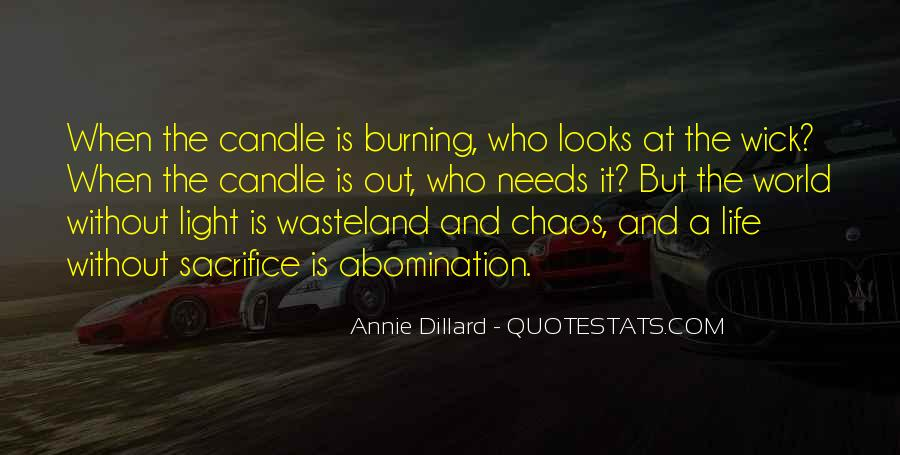 Candle Light Life Quotes #1824829