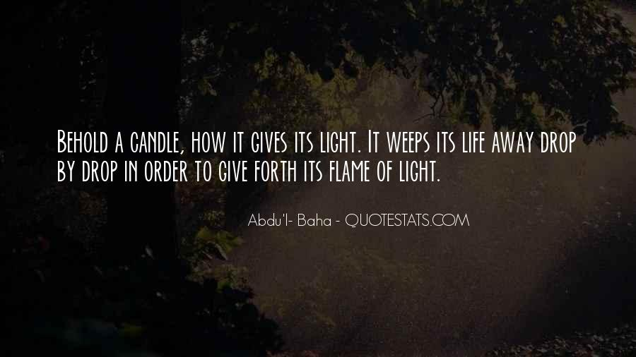 Candle Light Life Quotes #533570