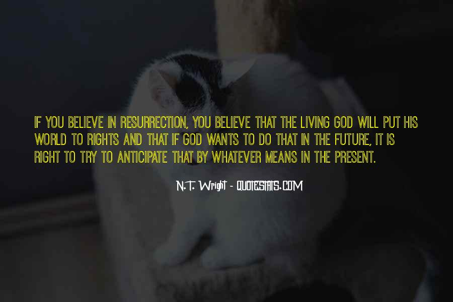 Quotes About Living Right For God #10900