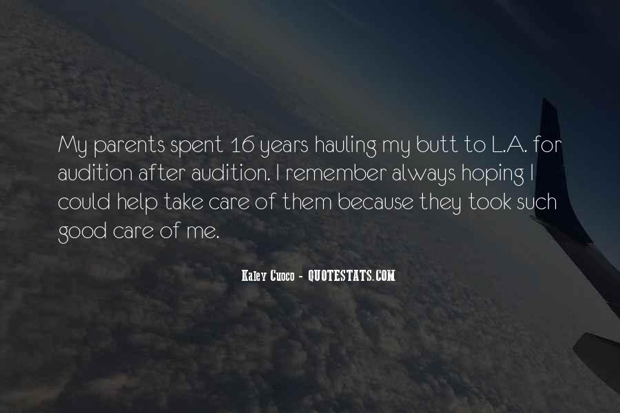 Care For Parents Quotes #1589493
