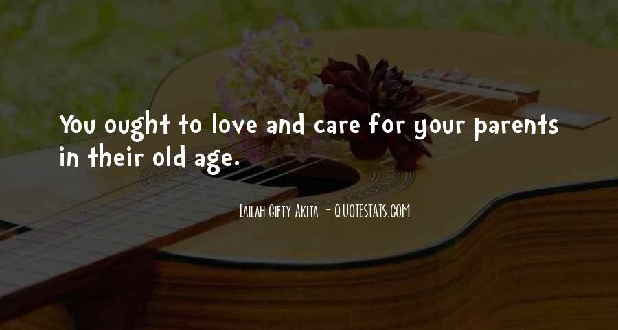 Care For Parents Quotes #911245