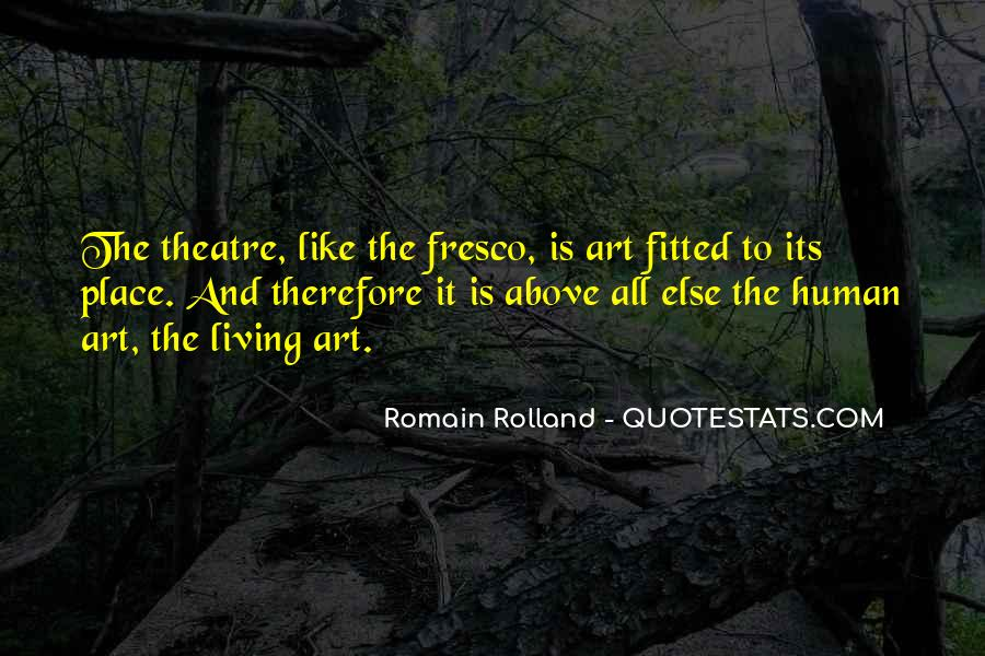 Quotes About Living Art #110105