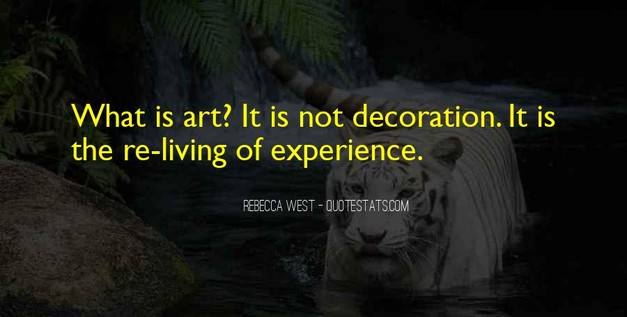 Quotes About Living Art #147591