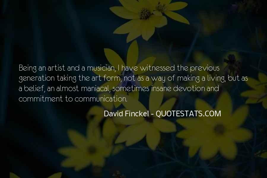 Quotes About Living Art #58288