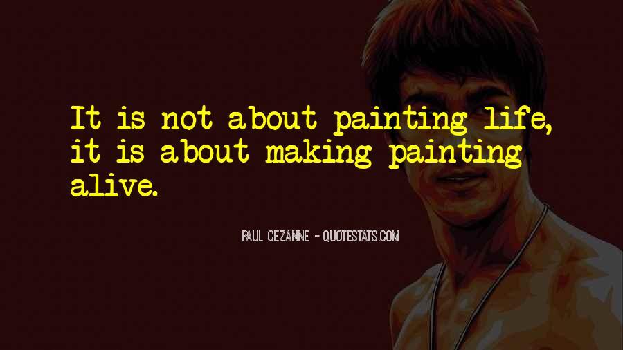 Cezanne Still Life Quotes #94483