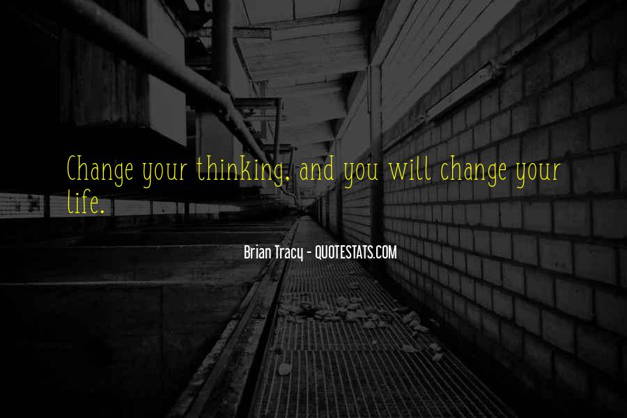 Change The Thinking Quotes #31172