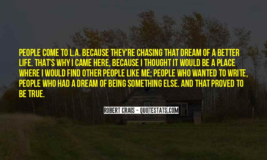 Chasing A Dream Quotes #33811