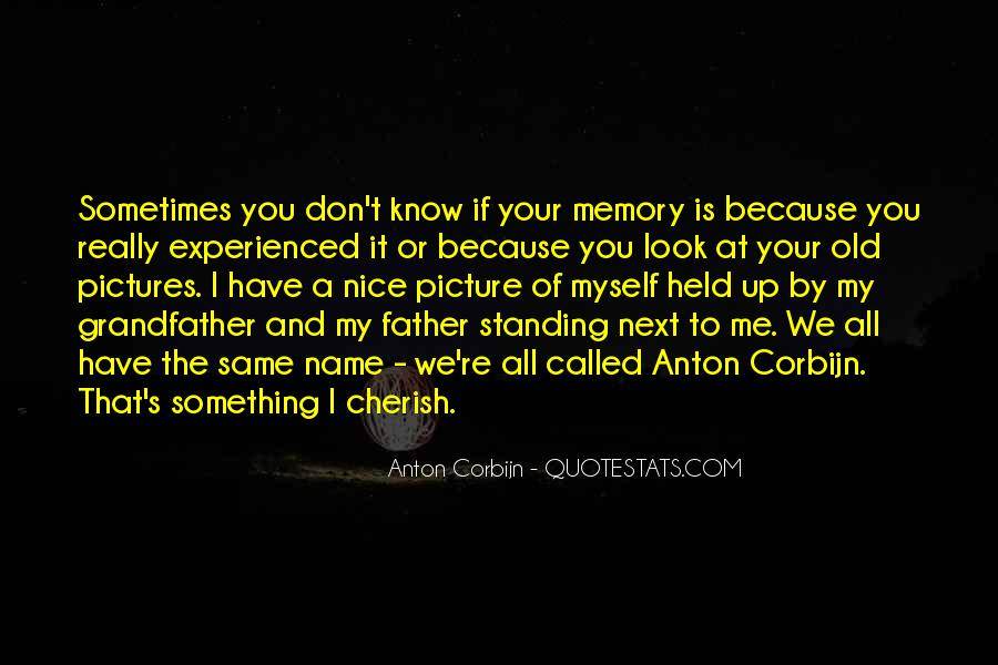 Cherish Your Memory Quotes #1256375