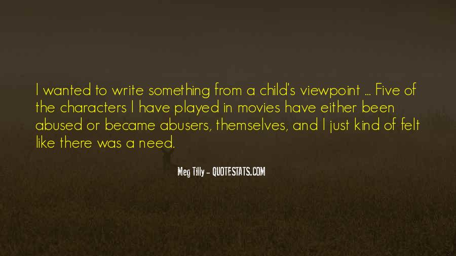 Child Abused Quotes #216262