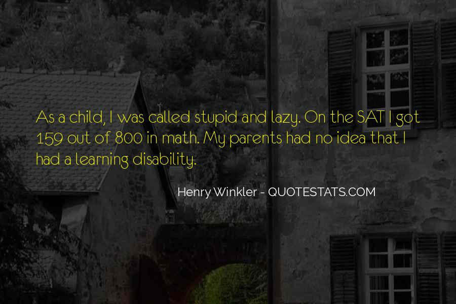 Child Disability Quotes #930676