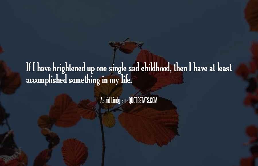 Childhood Sad Quotes #129280