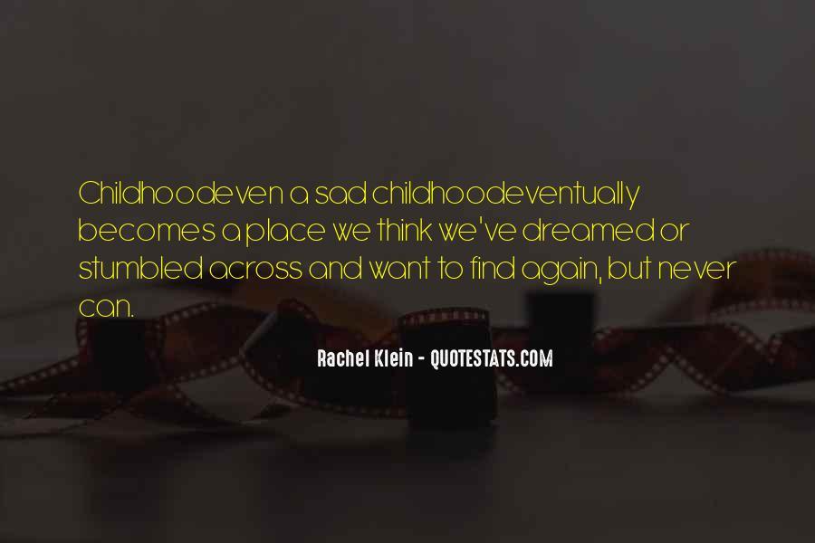 Childhood Sad Quotes #608557