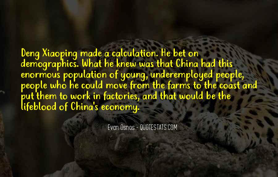 China Population Quotes #87709