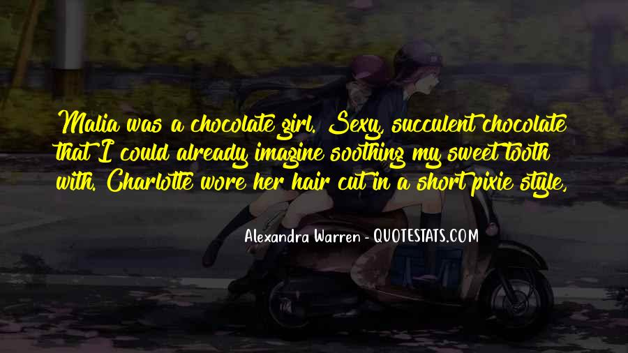 Chocolate And Girl Quotes #1440766