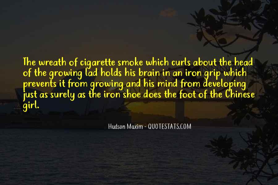 Cigarette Smoke Quotes #1423789