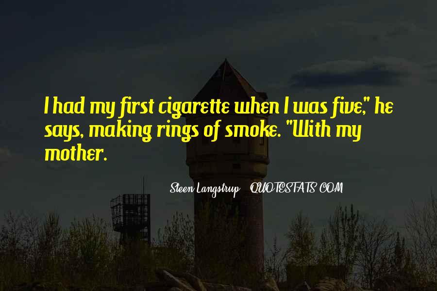Cigarette Smoke Quotes #821223