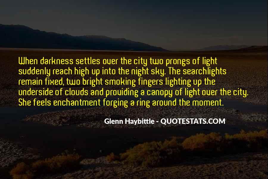 City Night Sky Quotes #1170980