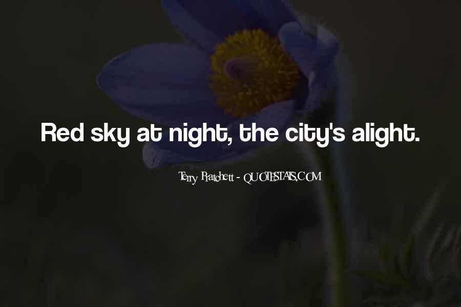 City Night Sky Quotes #157741