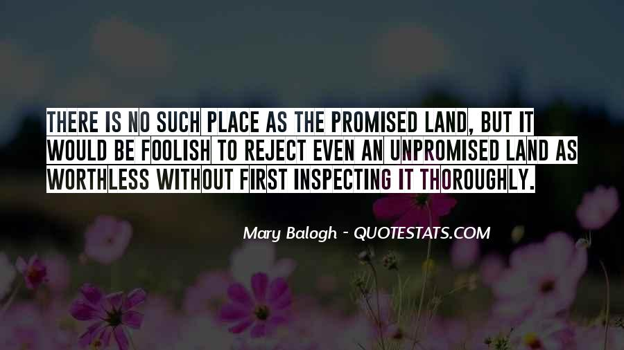 Quotes About The Promised Land #1081705