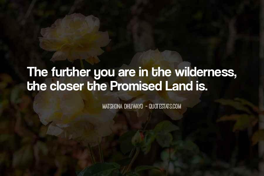 Quotes About The Promised Land #1424891