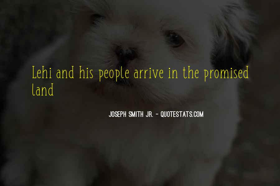 Quotes About The Promised Land #1719480