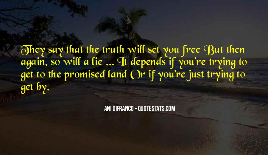 Quotes About The Promised Land #252440