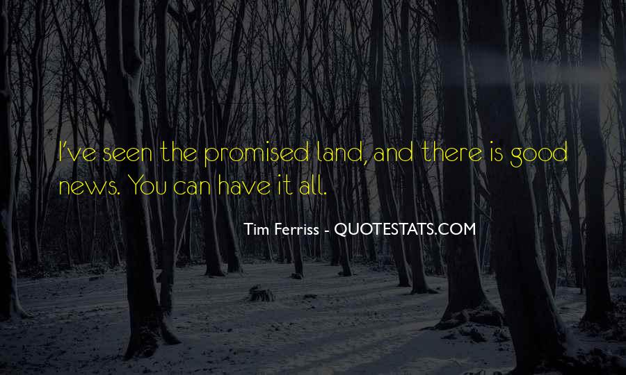 Quotes About The Promised Land #455642