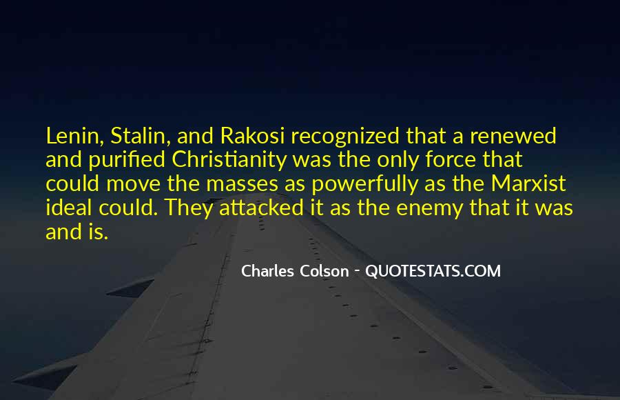Quotes About Lenin And Stalin #96626
