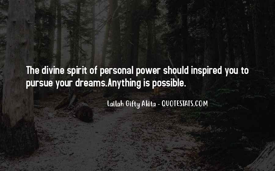 Quotes About The Power Of Your Dreams #1651077