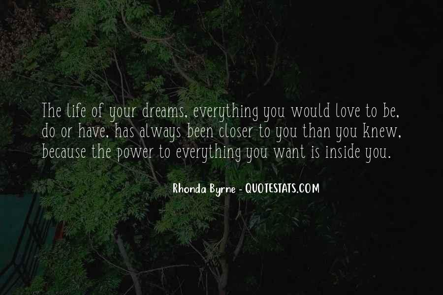 Quotes About The Power Of Your Dreams #263897