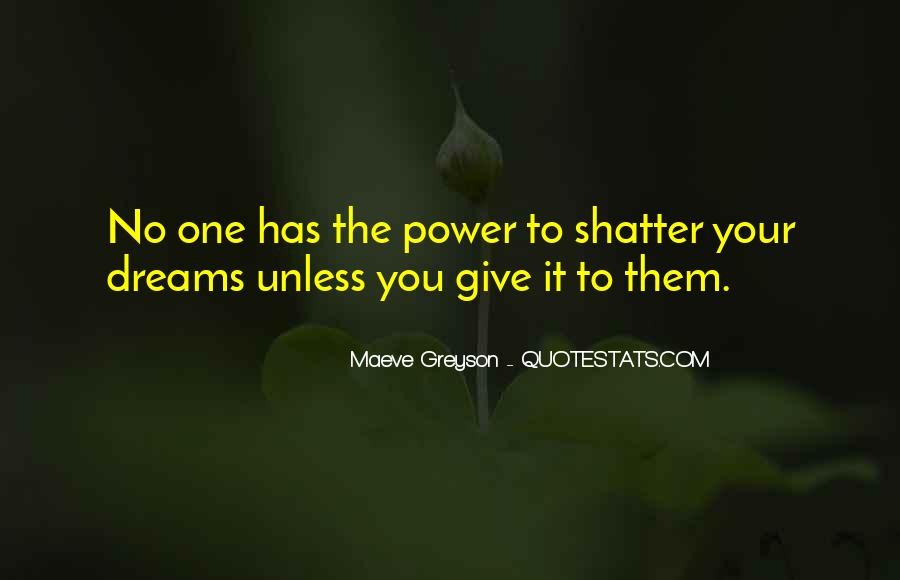 Quotes About The Power Of Your Dreams #324958