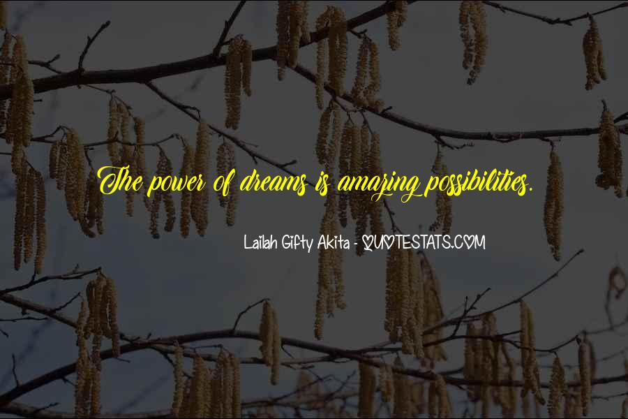 Quotes About The Power Of Your Dreams #509508