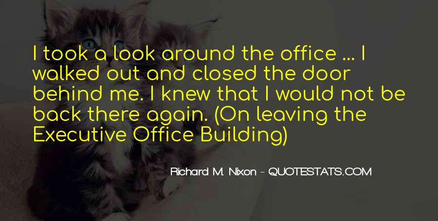 Quotes About Leaving The Office #1151460